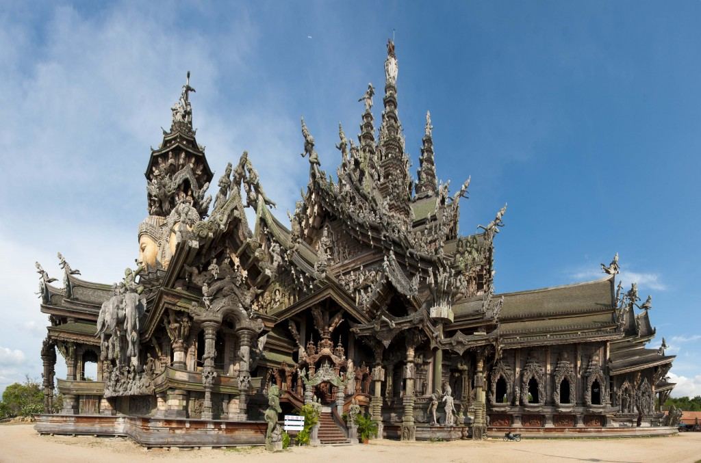 Sanctuary temple in Thailand